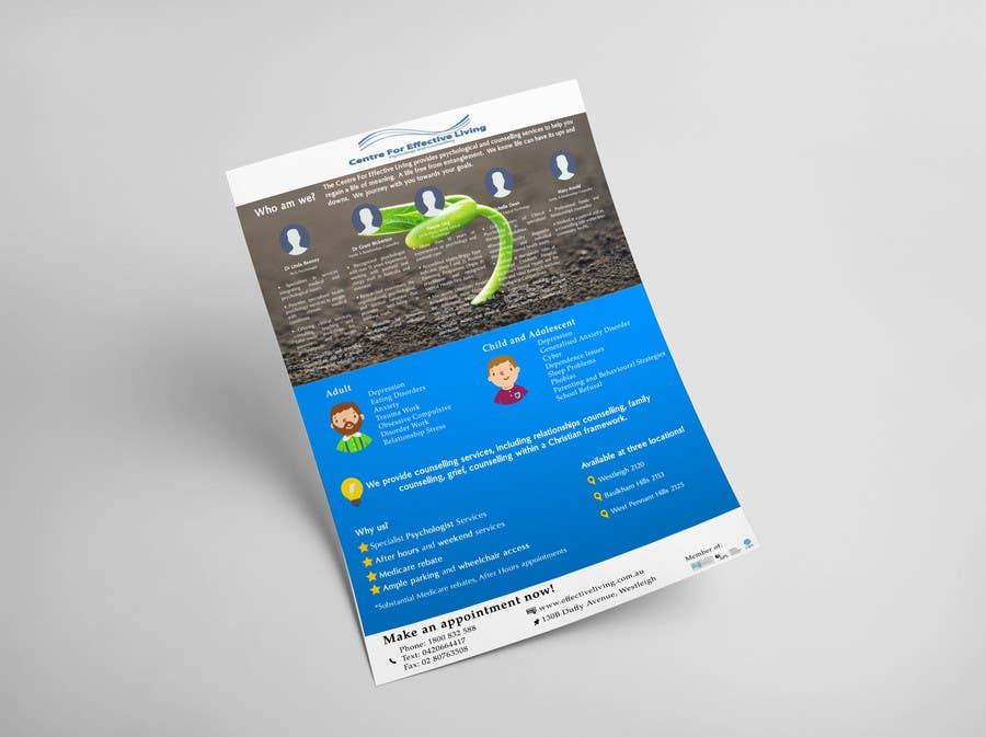 Penyertaan Peraduan #29 untuk Design a Flyer for Psychology service