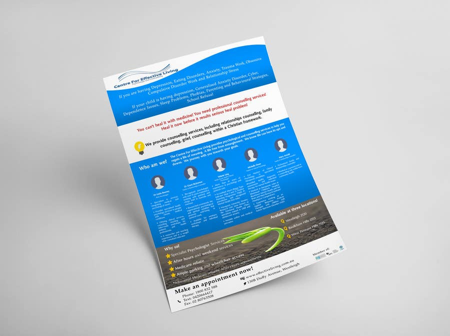 Penyertaan Peraduan #33 untuk Design a Flyer for Psychology service
