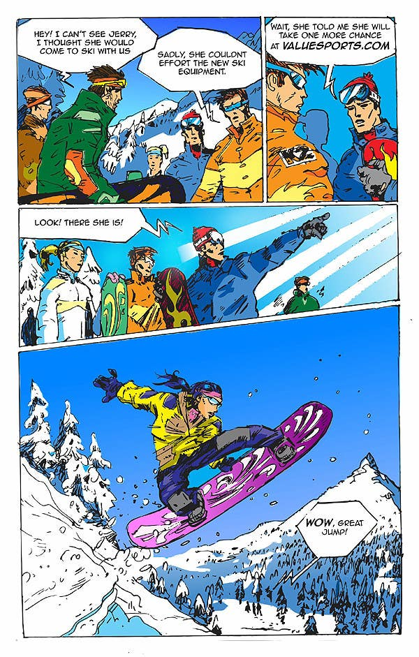 Inscrição nº                                         4                                      do Concurso para                                         Cartoon for Snowboard/Ski Online Shop