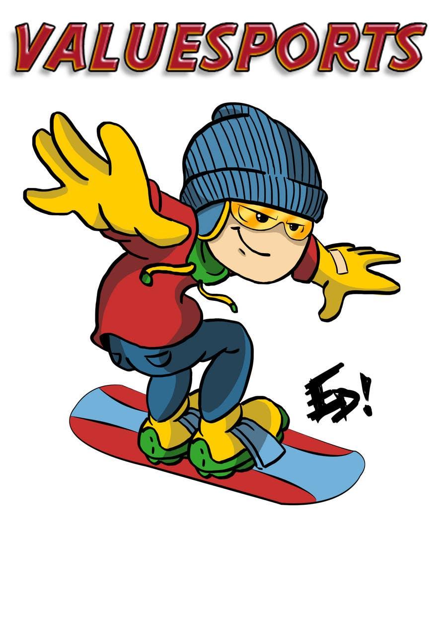 Kilpailutyö #                                        3                                      kilpailussa                                         Cartoon for Snowboard/Ski Online Shop