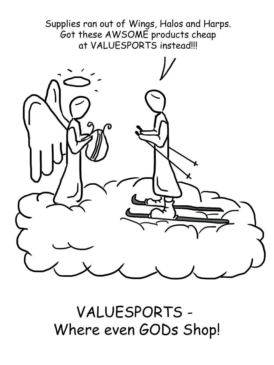 Penyertaan Peraduan #8 untuk Cartoon for Snowboard/Ski Online Shop