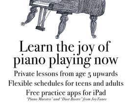 #144 untuk Design a Logo for a Piano Teacher oleh bennashcartoons