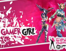 Hobology tarafından Design a Logo and a Banner for the Website of a Gamer Girl Model Agency için no 19