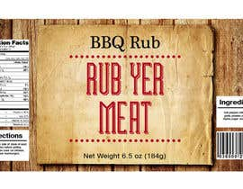 #17 untuk Create Print and Packaging Designs for BBQ Rub Labels oleh Christina850