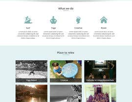 #3 untuk Design a Website Mockup for surf and yoga guest house website oleh negibheji