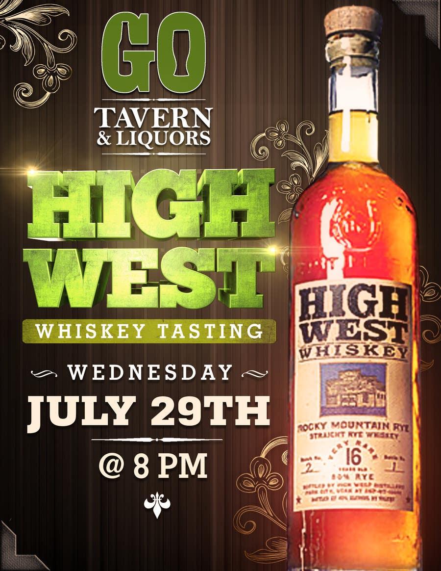 Konkurrenceindlæg #15 for Design a Flyer for High West Whiskey Tasting