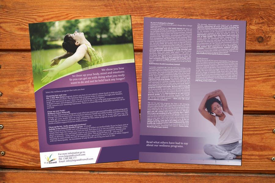 Bài tham dự cuộc thi #                                        17                                      cho                                         Design a Flyer for our wellness programs