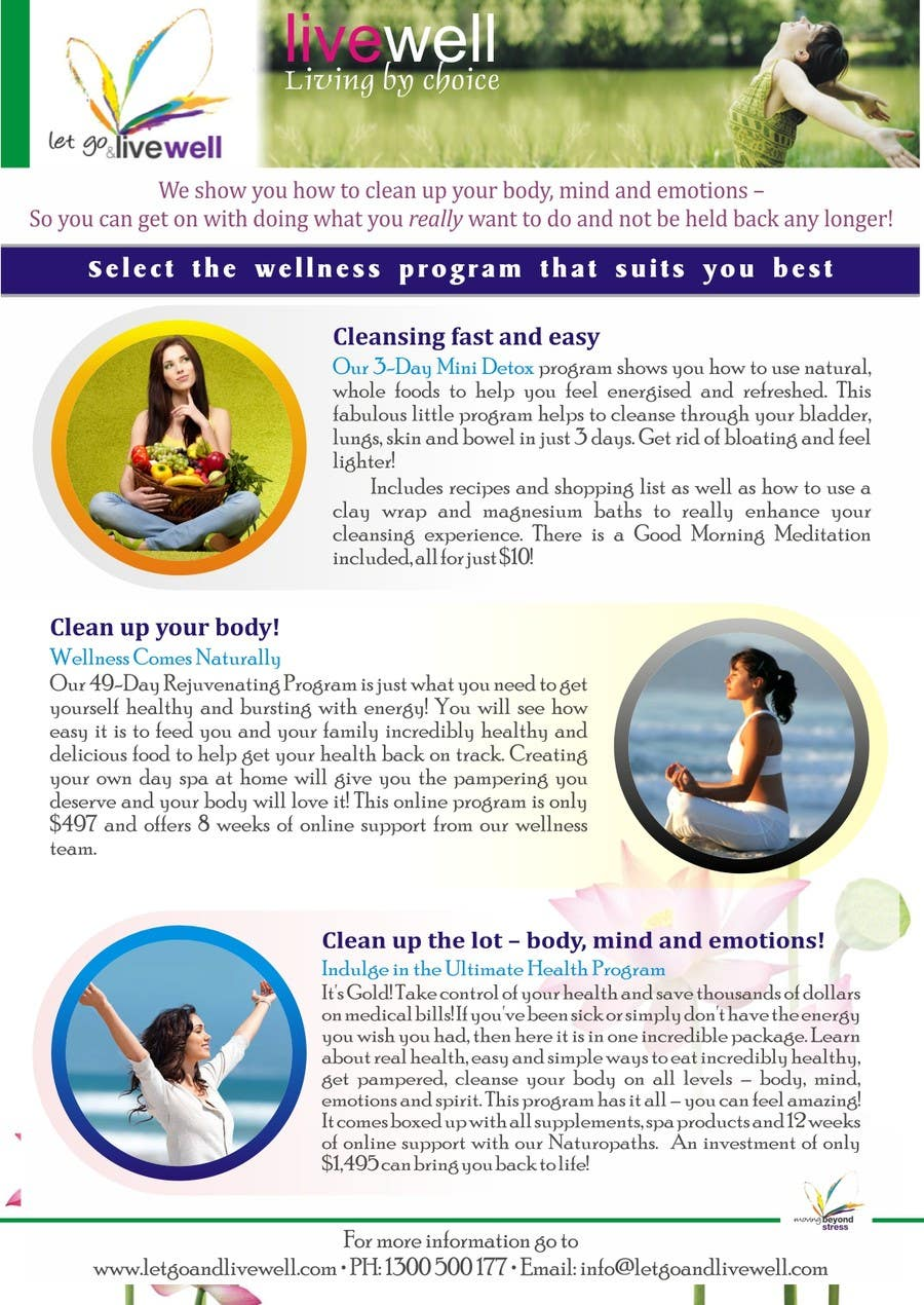 Bài tham dự cuộc thi #                                        18                                      cho                                         Design a Flyer for our wellness programs