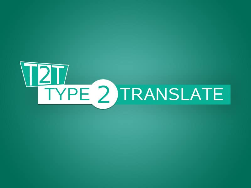 Bài tham dự cuộc thi #                                        25                                      cho                                         Design a Logo for www.type2translate.com