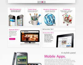 peaceonweb tarafından Design a Website Mockup for a Web-Design Agency için no 45