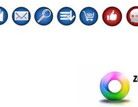 #25 para Design 8 simple and clean icons for web - flat style por Zebacka