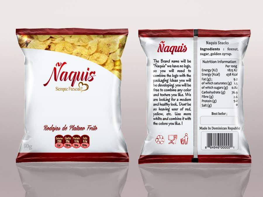 Konkurrenceindlæg #44 for Print & Packaging Design for Snacks and logo for Ñaquis Snacks