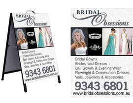 #2 for Create A 2 Sided A-Frame Design for a Bridal Shop by TUDesigns