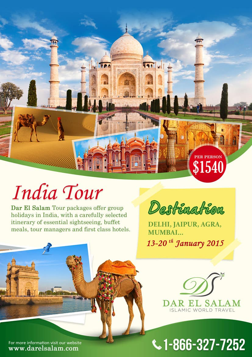 India Tour Flyer Regular A4 Size