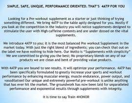 #2 for Write my Product Descriptions for 4ATP:Pre-Workout Supplement af alishadhindsa89