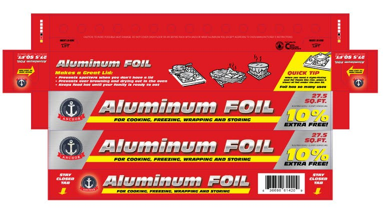 Bài tham dự cuộc thi #4 cho Create Print and Packaging Designs for ALUMINUM FOIL PACKAGE