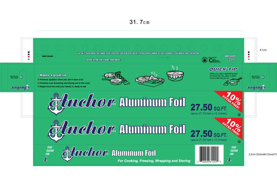 Bài tham dự cuộc thi #1 cho Create Print and Packaging Designs for ALUMINUM FOIL PACKAGE