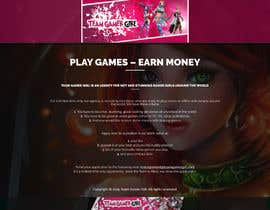 #7 untuk Design a 1 page website with videogaming and gamer girl theme in Wordpress oleh bandiachorwadi