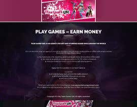 #9 untuk Design a 1 page website with videogaming and gamer girl theme in Wordpress oleh bandiachorwadi