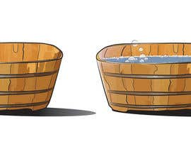 nhatlink12 tarafından Illustrate a Wooden Half-Tub, with Water & Bubbles için no 9