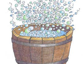 bennashcartoons tarafından Illustrate a Wooden Half-Tub, with Water & Bubbles için no 10