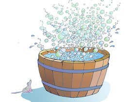 #12 cho Illustrate a Wooden Half-Tub, with Water & Bubbles bởi bennashcartoons