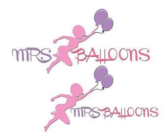 "#65 untuk Design a Logo for my business ""MRS BALLOONS"" oleh darkavdarka"
