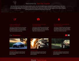 #10 untuk Design a Website Mockup for a car website oleh Webicules