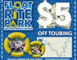 TwistedMunkay tarafından Design Simple $5 off Dropcard Coupon for Float Rite Park için no 6