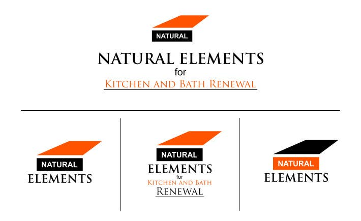 #79 for Design a Logo for Natural Elements for Kitchen and Bath Renewal by sirrom