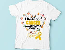 "#21 untuk Design a T-Shirt For "" September Childhood Cancer Awareness Month "" oleh Christina850"
