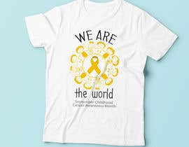 "#35 untuk Design a T-Shirt For "" September Childhood Cancer Awareness Month "" oleh Christina850"