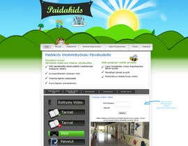 #5 para Graphic Redesign: Front page of web app for nursery schools (PSD) por Sirvan3TR