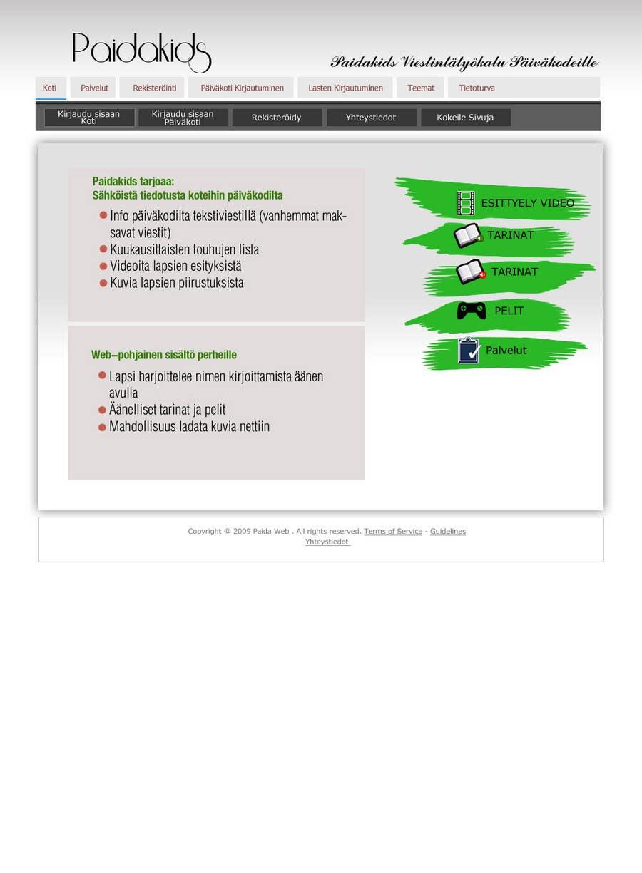 Конкурсная заявка №10 для Graphic Redesign: Front page of web app for nursery schools (PSD)