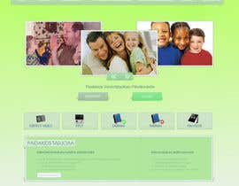 #17 para Graphic Redesign: Front page of web app for nursery schools (PSD) por lataraaa