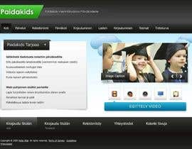 #19 for Graphic Redesign: Front page of web app for nursery schools (PSD) by axxxd