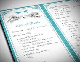 imagencreativajp tarafından I need some Graphic Design for a Wedding Program için no 18