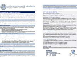 #9 untuk Design a Brochure for MEAA oleh djock18