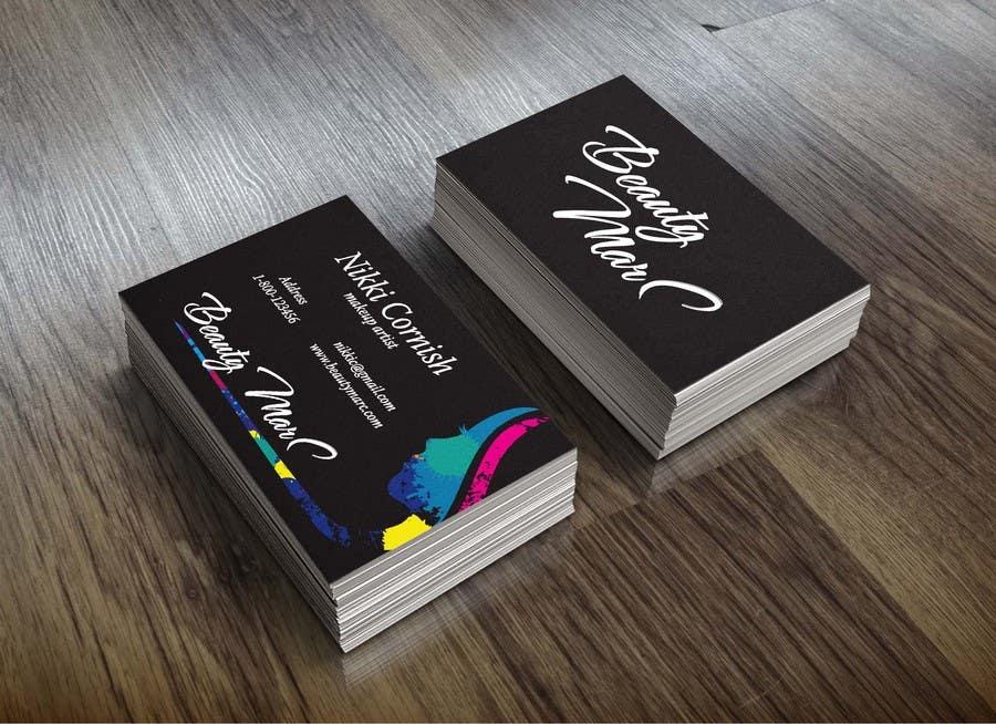Entry #36 by bojanhu for Makeup Artist Business Card Design