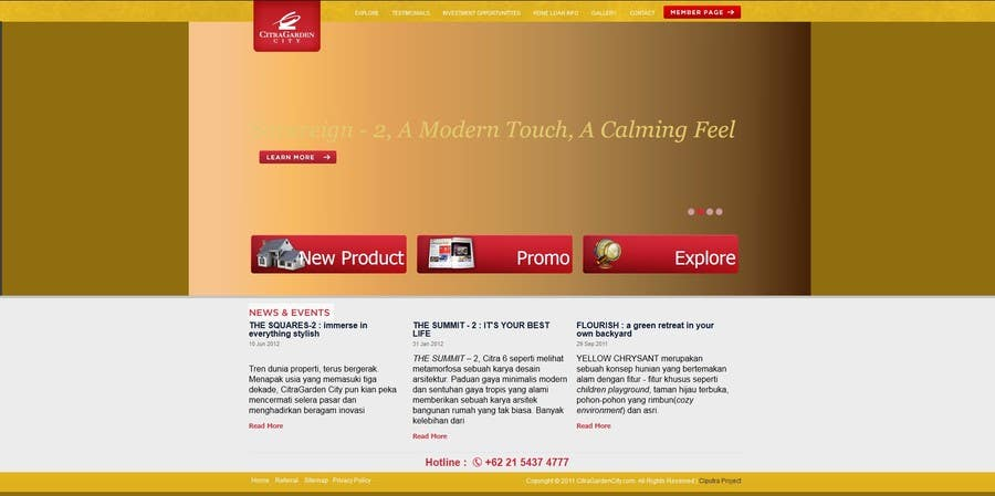 #3 for Simple website with lightbox and YM contact at header by imostealth