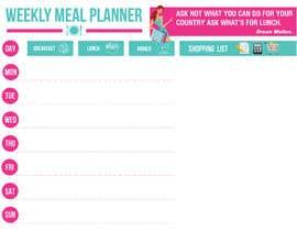 gkhaus tarafından Design a Weekly Meal Planner için no 4