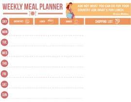 gkhaus tarafından Design a Weekly Meal Planner için no 5