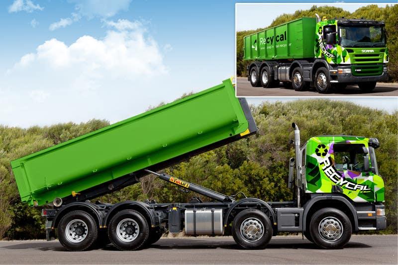 Kilpailutyö #185 kilpailussa Design our the colour scheme/artwork for our new trucks