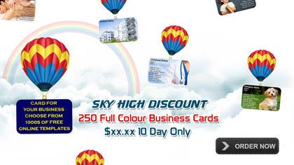 #8 untuk Design a Banner for marketing of a  print product (Air Balloon concept) oleh msdvenkat