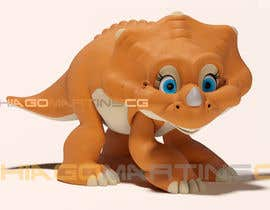 #29 untuk Do some 3D Modelling for  a cute baby dinosaur oleh thiagomartins84