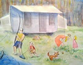 Rafinatovna tarafından Illustrate Something for Children's Book - camping theme için no 23