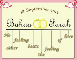 #12 untuk Design a Logo for Wedding Card/FB event (2 Names logo) oleh sofiaalcala327