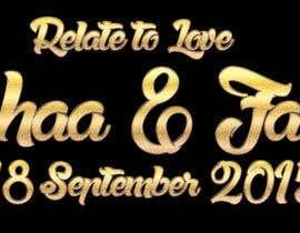 ranco81 tarafından Design a Logo for Wedding Card/FB event (2 Names logo) için no 2