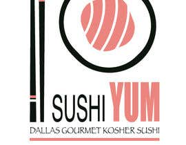 #24 untuk Design a Logo/Sticker and Menu/Flyer for Sushi Yum oleh jeniafibi