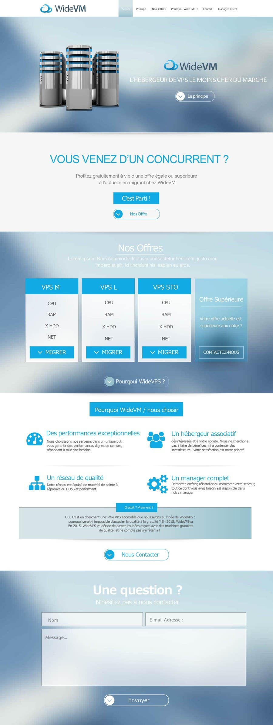 Penyertaan Peraduan #4 untuk Concevez une maquette de site Web